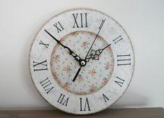 oversized white wall clock , minimalist large wall clock , farmehouse white wall clock