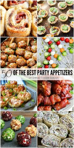 Get ready to get the party started with 50 of the Best Party Appetizers. All my … Get ready to get the party started with 50 of the Best Party Appetizers. All my favorites are here and they're all completely irresistible! Best Party Appetizers, Finger Food Appetizers, Snacks Für Party, Holiday Appetizers, Appetizer Party, Best Party Food, Finger Food Recipes, Girls Night Appetizers, Mini Party Foods