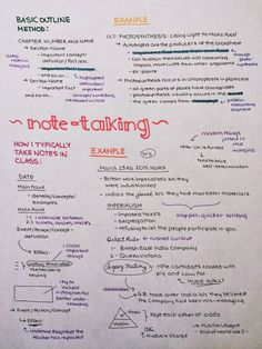 "cw0630: ""How I write outlines/take notes, for those of you that were asking :) """