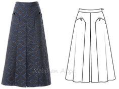 Januari 2019 BurdaStyle Magazine - Doctor T Designs - Model Rok, Sewing Ruffles, Maxi Skirt Tutorial, Pola Rok, Blouse And Skirt, Fashion Sewing, Fashion Sketches, Fashion Details, Skirt Fashion