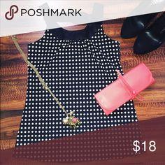 Polka dot blouse Very soft, polka dot blouse. Ideal for work. BCX Girls Tops Blouses