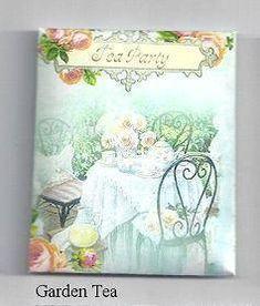6 Tea Bags in Garden Tea Envelopes Favors