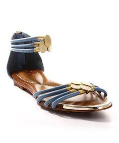 Another great find on #zulily! Cape Robbin Collection Blue Chasity Sandal by Cape Robbin Collection #zulilyfinds