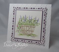 Art Impressions Wonderful Watercolor: handmade card with wood barrel container, flower, foliage Watercolor Projects, Watercolor Cards, Floral Watercolor, Watercolor Paintings, Watercolors, Art Impressions Stamps, Hand Made Greeting Cards, Scrapbook Cards, Scrapbooking