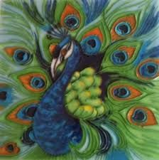 Image result for peacock tile