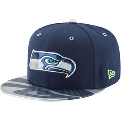 Men s Seattle Seahawks New Era Heather Gray Black Crafted in the USA ... f8fd1b754