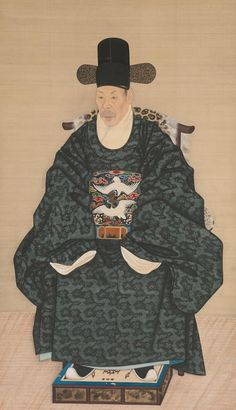 Portrait of Yun Dongseom Artist: Unidentified Artist Korean, late century Period: Joseon dynasty Date: ca. Korean Photo, Korean Art, Asian Art, Korean Traditional, Traditional Art, Traditional Outfits, Korean Painting, Korean Hanbok, Asian History