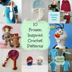 10 Frozen Inspired Patterns. - Knot Your Nanas Crochet