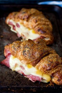 Make Ham + Cheese Croissants With Honey Mustard Glaze for Easter brunch with this easy recipe.