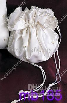 Bridal Hand Bags Beaded Bridal Pockets with Ribbons and Beadings