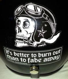 My best Sticker! #motorcycle #helmet #burnout