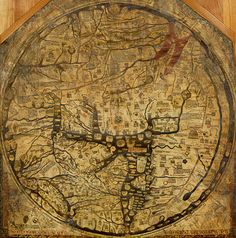 Mappa Mundi at Hereford Cathedral. - A treasure of the medieval world, it records how 13th Century scholars interpreted the world in spiritual as well as geographical terms.