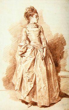 Jean Honore Fragonard yougn woman standing - 1775-85