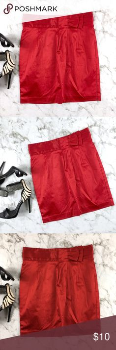 Forever 21 Red Satin Look Skirt Size Large Very gently used no defects. Red Satin Look Pencil Skirt Size Large By Forever 21.Zipper up closure in the back. Gorgeous and Classy. Like new Forever 21 Skirts