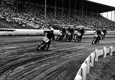 This year begins a seven-year consecutive run of victories at the Daytona 200. The victories will be shared by racers Brad Andres, Johnny Gibson, Joe Leonard and Roger Reiman. All ride Harley-Davidson KR models. Reiman's victory in 1961 is on the new speedway course.   Harley-Davidson 1955