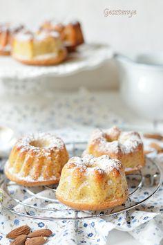 Mandulás, citromos mini kuglóf Healthy Breakfast Snacks, Ring Cake, Cake Cookies, Cupcakes, Scones, My Recipes, Minion, Muffin, Cheesecake