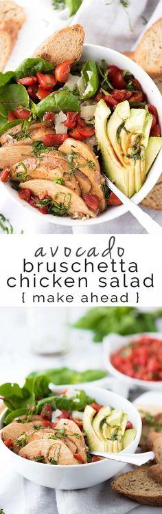 Avocado Bruschetta Chicken Salad Bowls