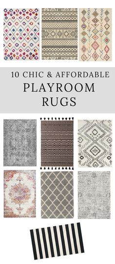 Looking for a chic and affordable playroom rug? Here is a great roundup of some