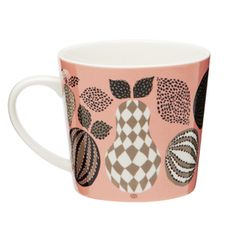 Our mugs, bowls and plates are made of fine porcelain. The mugs are light yet very durable.