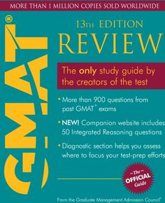 The Official Guide for GMAT Review (With CD ROM)  (Paperback)  by   Graduate Management Admission Council (GMAC)