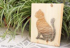 Técnica muito simples e criativa usa apenas prego, linha e madeira!                                                                                                                                                                                 Mais