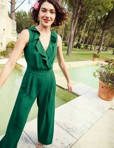Dolly Jumpsuit Jumpsuits at Boden Boden Clothing, Latest Fashion Dresses, Sustainable Clothing, Overall, Occasion Wear, Navy Women, Jumpsuits For Women, Spring Summer Fashion, Women Wear