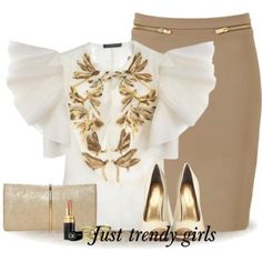pencil skirt with white blouse, Pencil skirts outfits http://www.justtrendygirls.com/pencil-skirts-outfits/
