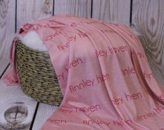 Personalized baby swaddle blanket Custom Design by AudreysBear Baby Swaddle Blankets, Receiving Blankets, Small Heart, Kid Spaces, Personalized Baby, Custom Design, Handmade Gifts, Fabric, Prints