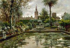 Manuel Garcia y Rodriguez -A Garden in Seville
