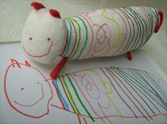 This company will craft a real toy from a child's drawing. http://www.childsown.com/