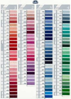 DMC Coton a Broder Thread Color Card- download color card from Lacis