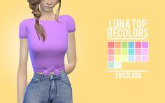 sens-felipa:  Luna Top recolors  20 colors ... | love 4 cc finds