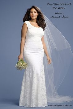 {Fashion Friday} Plus Size Wedding Dress of the Week | Hannah Gown by Watters | Pretty Pear Bride