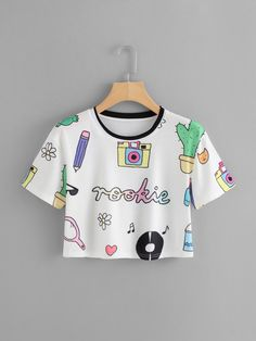 Girls Fashion Clothes, Teen Fashion Outfits, Cute Outfits For Kids, Cute Casual Outfits, Mode Grunge, Belly Shirts, Crop Top Outfits, Cute Crop Tops, Cute Shirts