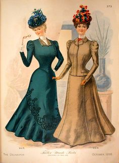 Delineator 1898-10 Fashions http://www.magazineart.org/magazines/d/delineatorfashionpages/Delineator1898-10Fashions2.html