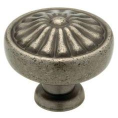 Liberty Hardware - Avante - Pewter - 1-1/4 Knob in Tumbled Pewter