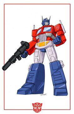 Optimus Prime cartoon look by Dan-the-artguy.deviantart.com on @deviantART