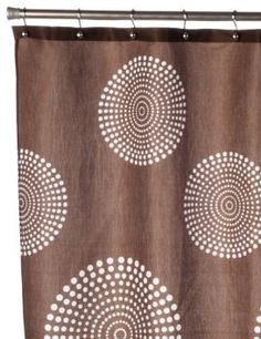 Amazon.com: Carnation Home Fashions Hanover Fabric Shower Curtain, Brown: Home & Kitchen