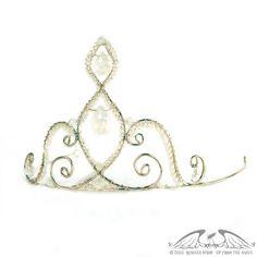 Silver and Rainbow Moonstone Bridal Tiara