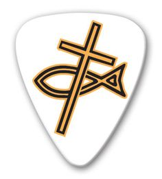 Themed Series Christian Guitar Picks Refill 25 - Cross & Fish - BC…