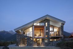 Splendid Mineral Lodge in Savoie by Atelier d'Architecture Christian Girard