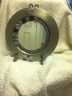 Silver tray repurposed to contemporary mirror. by jonesfurniture