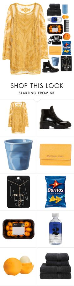 """""""you're all i want, so much it's hurting"""" by faded-pictures ❤ liked on Polyvore featuring H&M, Kenzo, Revol, Michael Kors, Topshop, Sephora Collection, Lord & Berry, Eos, Christy and Root Candles"""