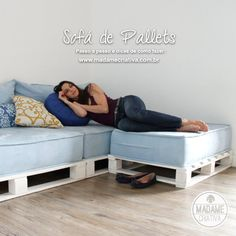 Material para fazer um sofá de pallets e trabalhar a madeira - Dicas e passo a passo com fotos para fazer Sofá de palete -  marcenaria simples - Tutorial with pictures - How to make a pallet sofa - DIY - Madame Criativa - www.madamecriativa.com.br