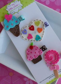 Sweet Treats!!  broches en feutrine !