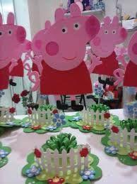 Resultado de imagen para centros de mesa de peppa pig