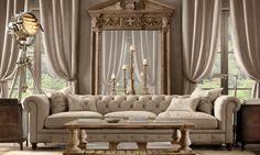 46 Stunning Comfy Living Room Decor Ideas For Any Home Design Furniture, House Design, Home Furnishings, Home, Restoration Hardware Living Room, Luxury Homes, House Interior, Comfy Living Room Decor, Interior Design