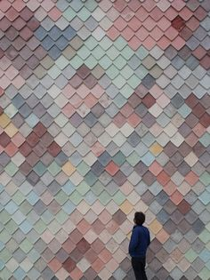 Handmade concrete tiles by London- based architecture collective Assemble.
