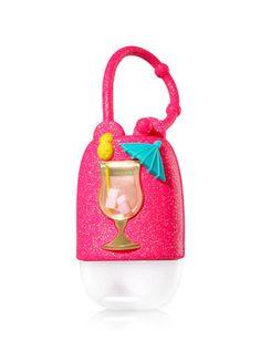 Shimmery Tropical Cocktail PocketBac Holder - Bath And Body Works Hand Sanitizer Holder, Soap Holder, Fruit Slime, Bath And Body Works Perfume, Diamond Candles, Bath N Body, B Words, Cute Pens, Bath And Bodyworks