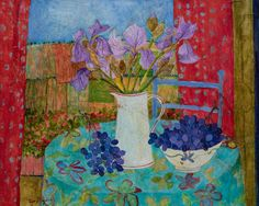 Catto Gallery | Sue Fitzgerald Exhibition 2016 | Wild Irises and Fields of Vines